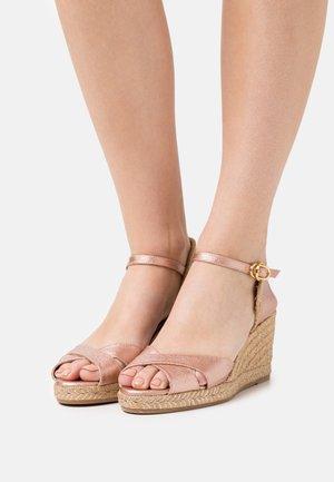 MIRELA - Platform sandals - rose gold