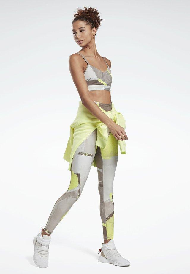 LUX BOLD HIGH-RISE LEGGINGS - Leggings - yellow