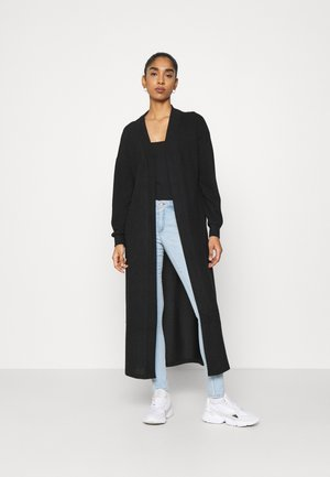 NMTESS LONG CARDIGAN - Kardigan - black