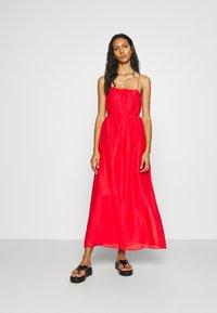 Banana Republic - STRAPPY SHIRRED - Maxi dress - strawberry delight - 0