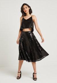 NA-KD - ZALANDO X NA-KD - Áčková sukně - black - 1
