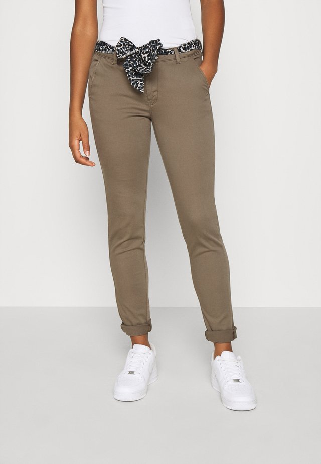 LIDY - Spodnie materiałowe - khaki