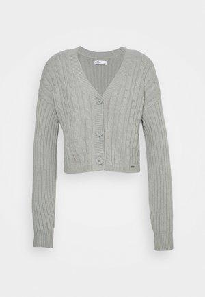 EASY CROP CARDI - Cardigan - grey