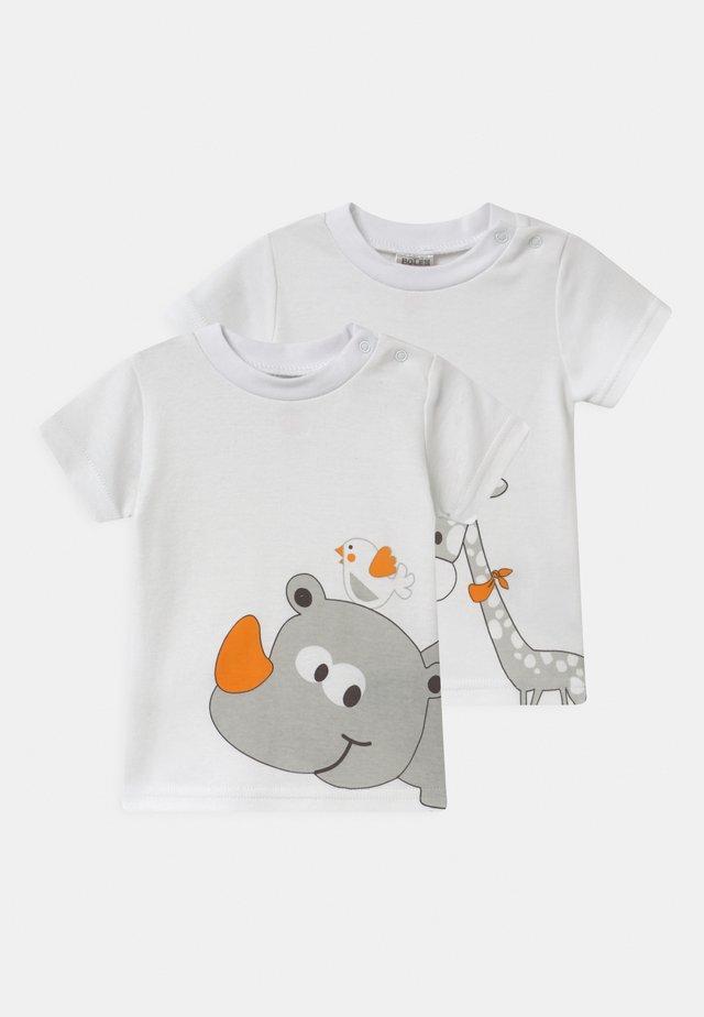 2 PACK UNISEX - T-shirt print - white