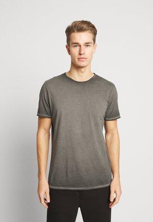 JPRDAVE TEE CREW NECK - Print T-shirt - black