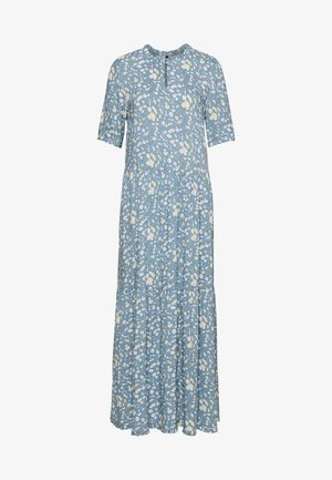 YASGREENISH LONG DRESS  - Maxi dress - blue heaven/greenish