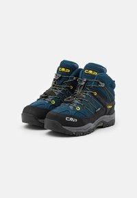 CMP - KIDS RIGEL MID SHOE WP UNISEX - Obuwie hikingowe - blue ink/yellow - 1