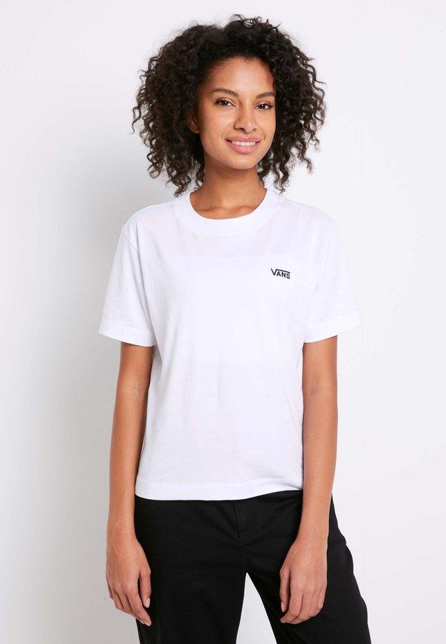 WM JUNIOR V BOXY - T-shirt print - white