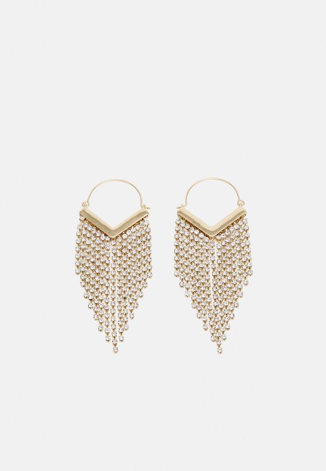 PCPETRA EARRINGS - Kolczyki - gold-coloured/clear