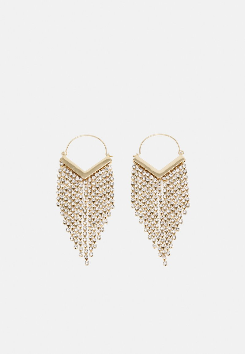 Pieces - PCPETRA EARRINGS - Earrings - gold-coloured/clear