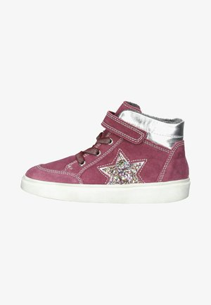 Trainers - plum/silver/gold