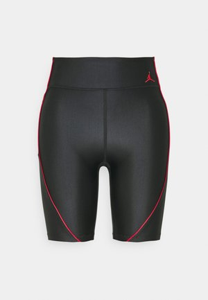 ESSEN LEG - Shorts - black/university red