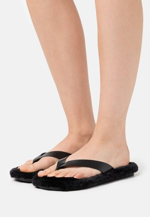 FERN - T-bar sandals - black
