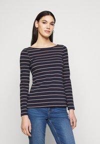 Anna Field Tall - Long sleeved top - dark blue/camel - 0