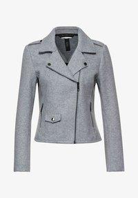 FILZOPTIK - Faux leather jacket - grau