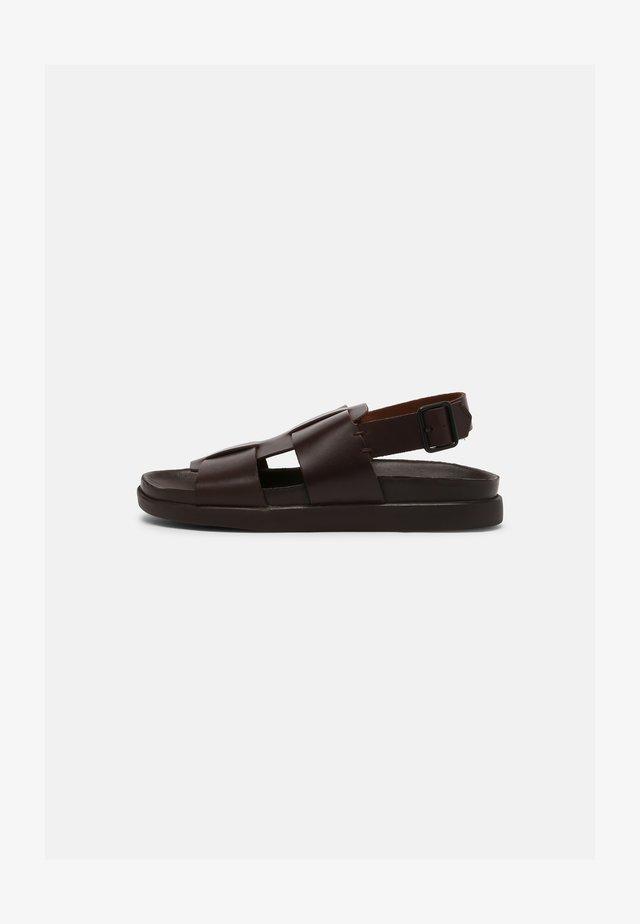 SUNDER STRAP - Sandals - dark brown