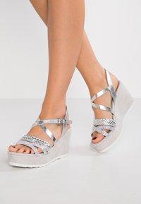Marco Tozzi - Platform sandals - silver - 0