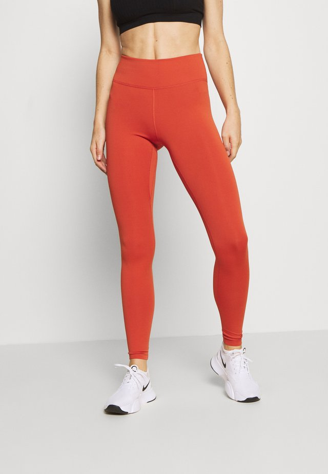 ONE - Legginsy - mantra orange/white