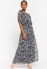LolaLiza - WITH FLOWER PRINT - Maxi dress - navy blue - 0