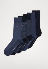Tommy Hilfiger - SOCK FINE STRIPE GIFTBOX 5 PACK - Skarpety - jeans - 0
