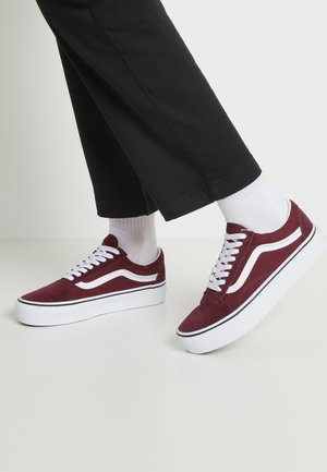 OLD SKOOL PLATFORM - Zapatillas - port royale/true white