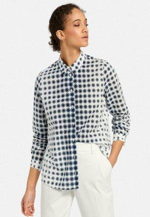 Button-down blouse - weiß marine