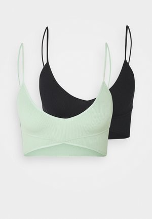 SEAMFREE BALLET BRALETTE 2 PACK - Bustier - black/mint