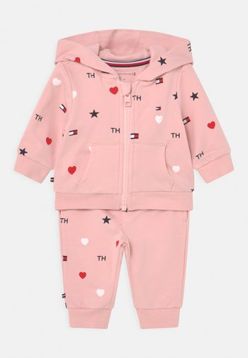 BABY FLAG HOODED SET UNISEX - Tracksuit - pink