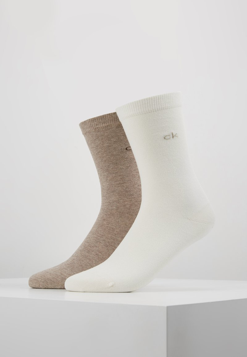 Calvin Klein Underwear - CREW  2 PACK  - Chaussettes - ecru