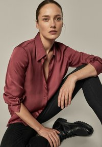Massimo Dutti - Button-down blouse - bordeaux