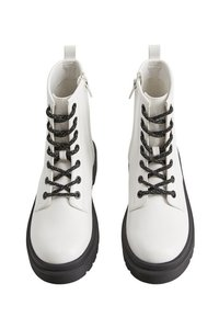 Mango - FLOWERS - Lace-up ankle boots - white - 1