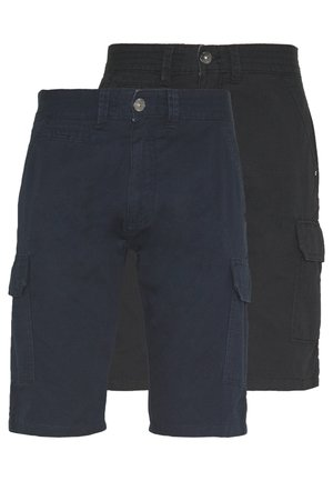 EXCLUSIVE ATWATER 2 PACK - Pantalon cargo - navy/black