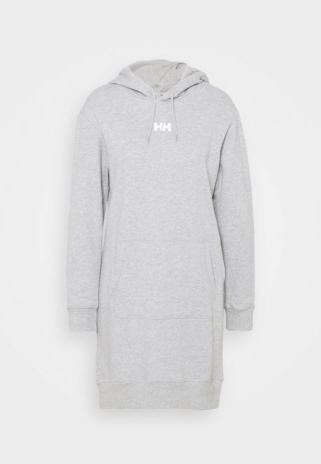 ACTIVE HOODIE DRESS - Sukienka sportowa - grey melange