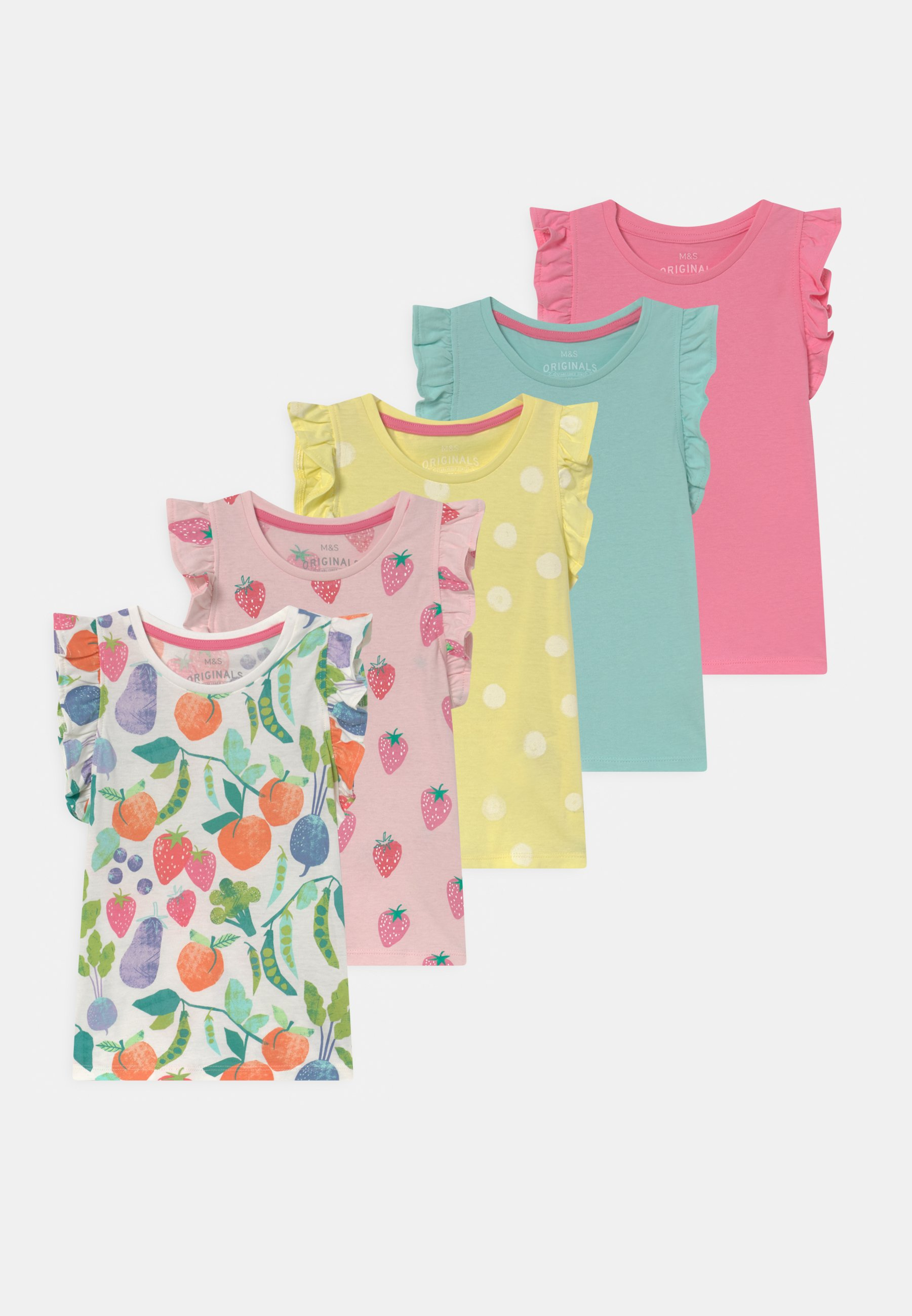 Bambini FRUIT 5 PACK - T-shirt con stampa