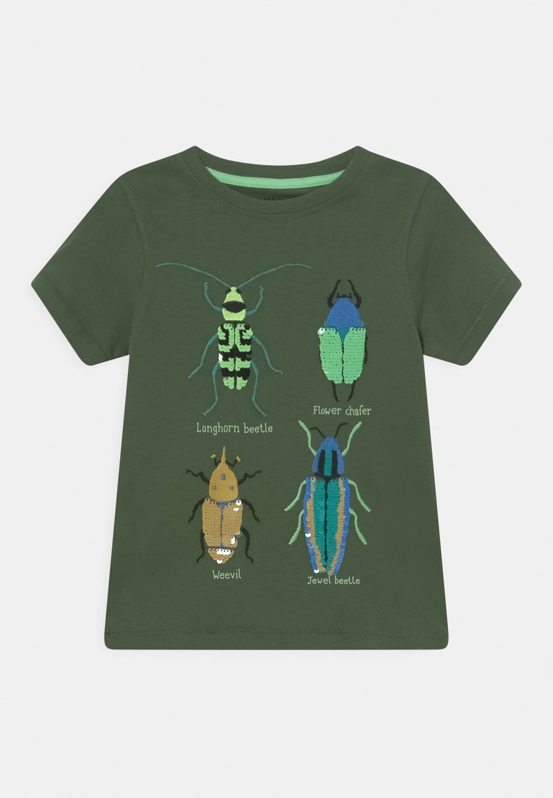 Marks & Spencer London - MULTI INSECT TEE - Print T-shirt - khaki