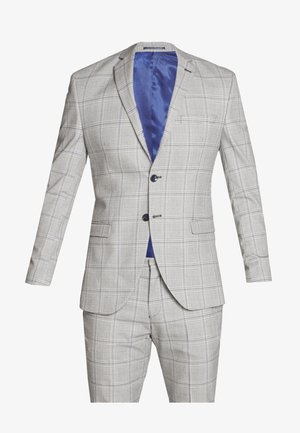 SLHSLIM EMIL CHECK SUIT - Kostym - light gray/blue
