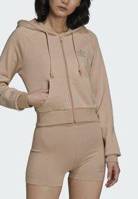 adidas Originals - Zip-up sweatshirt - beige - 4