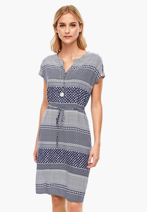 JURKEN - Day dress - navy stripes aop