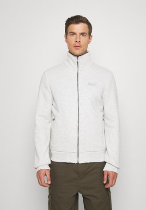 Zip-up hoodie - pale grey birdseye