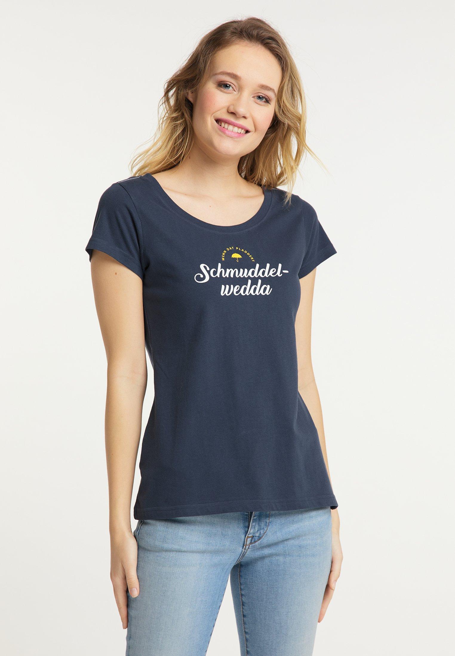 Schmuddelwedda T-shirt imprimé - marine - Tops & T-shirts Femme ak3g2