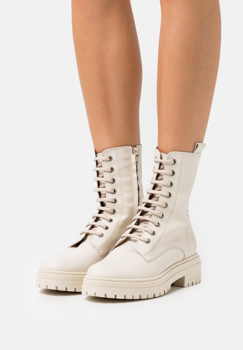 Bianca Di - Platform ankle boots - avorio