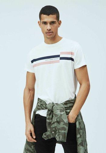 DONOVAN - Print T-shirt - blanco off