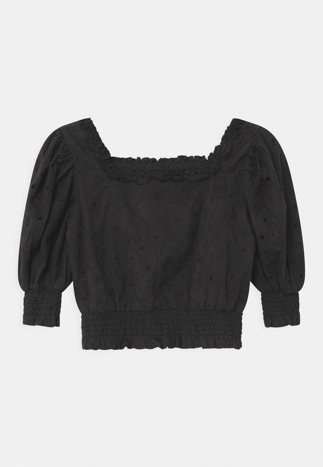 OFF-SHOULDER CROPPED - Blouse - black