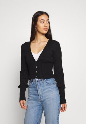 BALLOON RIB WAIST  - Vest - black