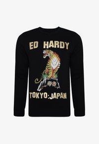 Ed Hardy - TIGER-MOUNTAIN CREW NECK SWEATSHIRT - Sweatshirt - black - 3