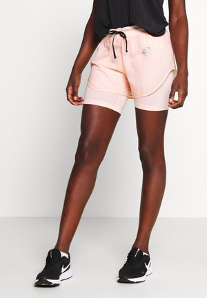 2IN1 SHORT - kurze Sporthose - washed coral/guava ice/reflective silv