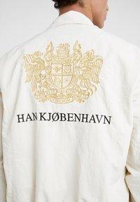 Han Kjobenhavn - TRACK TOP - Giacca leggera - white - 5