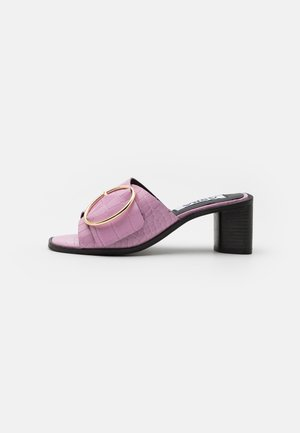 JUSTICE - Heeled mules - orchid