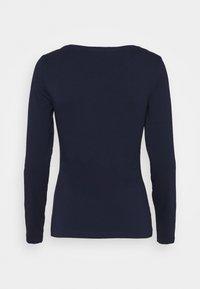 Anna Field - 2 PACK - Langærmede T-shirts - dark blue/mottled light grey - 2