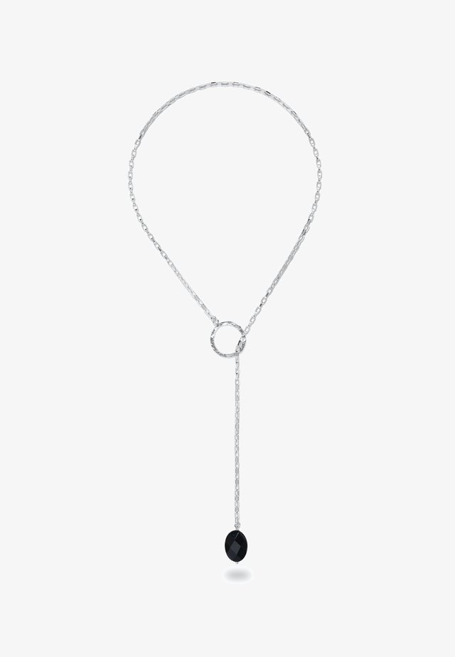 CHARA SILVER LARIAT AND BLACK ONYX  - Collana - silver